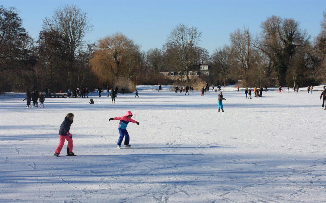 Het park kleurt wit